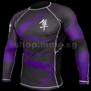 Hayabusa Metaru 47 Silver Rashguard Longsleeve - Purple