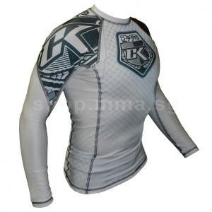 Contract Killer Stained White Rashguard Long Sleeve