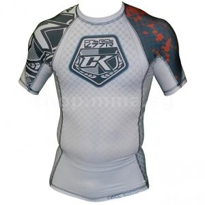 Contract Killer Stained White Rashguard Shorts Sleeve