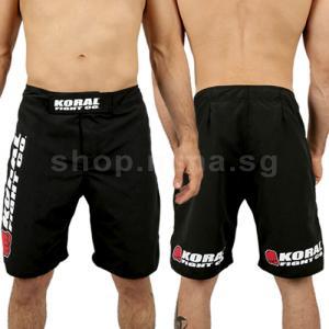 Koral Shorts Fight Pro Black Mma Shop Singapore