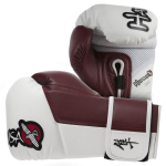 Hayabusa Tokushu 10oz Gloves - White/Burnt Crimson