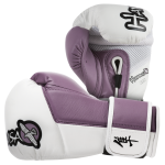 Hayabusa Tokushu 10oz Gloves - White/Dark Orchid