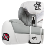 Hayabusa Tokushu 16oz Gloves - White/Slate Grey