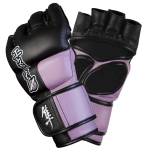 Hayabusa Tokushu 4oz MMA Gloves - Black/Dark Orchid