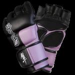 Hayabusa Tokushu 4oz MMA Gloves - Black/Dark Orchid