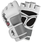 Hayabusa Tokushu 4oz MMA Gloves - White/Slate Grey