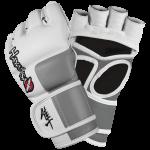 Hayabusa Tokushu 4oz MMA Gloves - White/Slate Grey