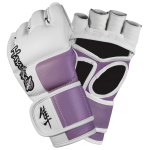 Hayabusa Tokushu 4oz MMA Gloves - White/Dark Orchid