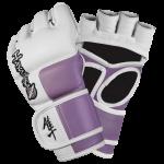 Hayabusa Tokushu 4oz MMA Gloves - White/Dark Orchid