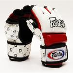 New Fairtex MMA Gloves - with thumb - White/Red