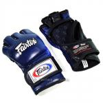 Ultimate MMA Gloves - Thumbless - Blue