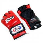 Ultimate MMA Gloves - Thumbless - Red