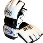 New Fairtex MMA Gloves - with thumb - White/Black