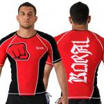 Koral Rash Guard Medieval Short Sleeve - Red