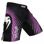 Venum Electron Purple Fightshorts - UFC 130 Black Edition
